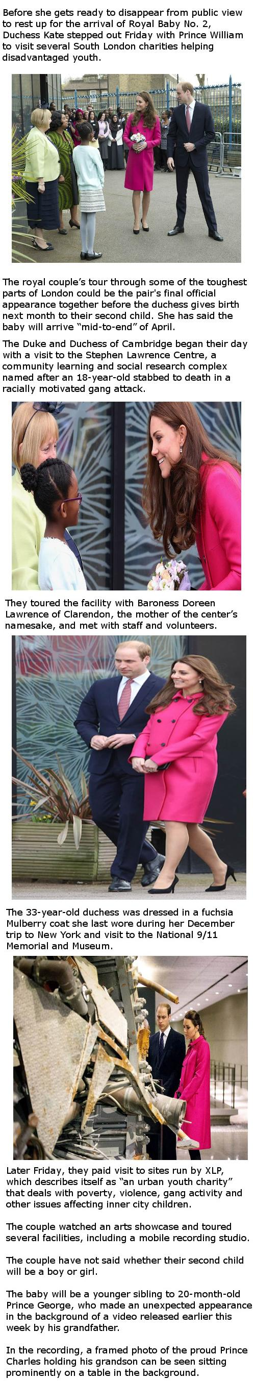 Duchess Kate's pretty in pink
